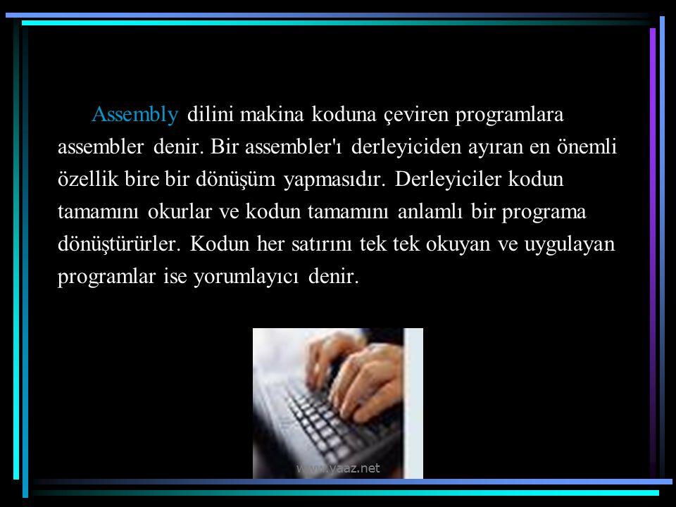 Assembly dilini makina koduna çeviren programlara