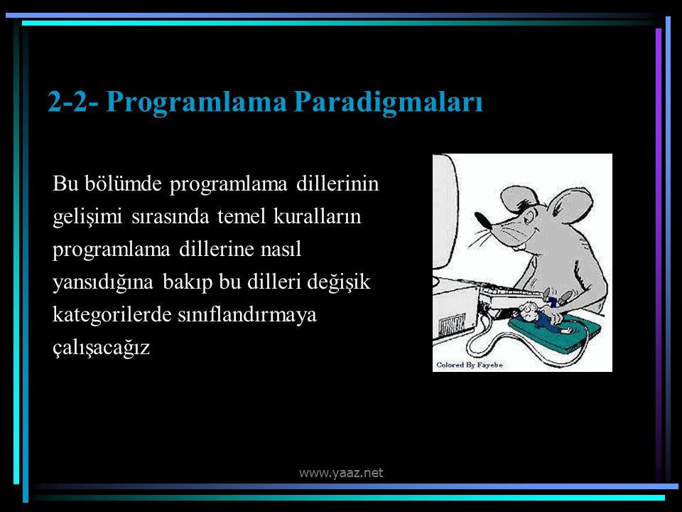 2-2- Programlama Paradigmaları