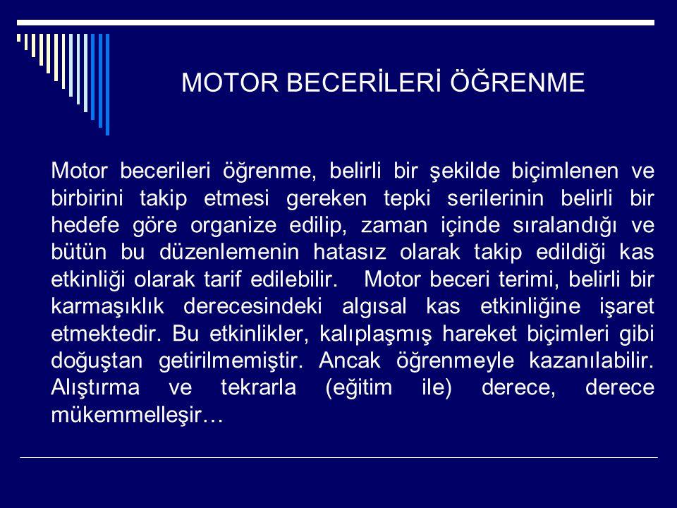 MOTOR BECERİLERİ ÖĞRENME