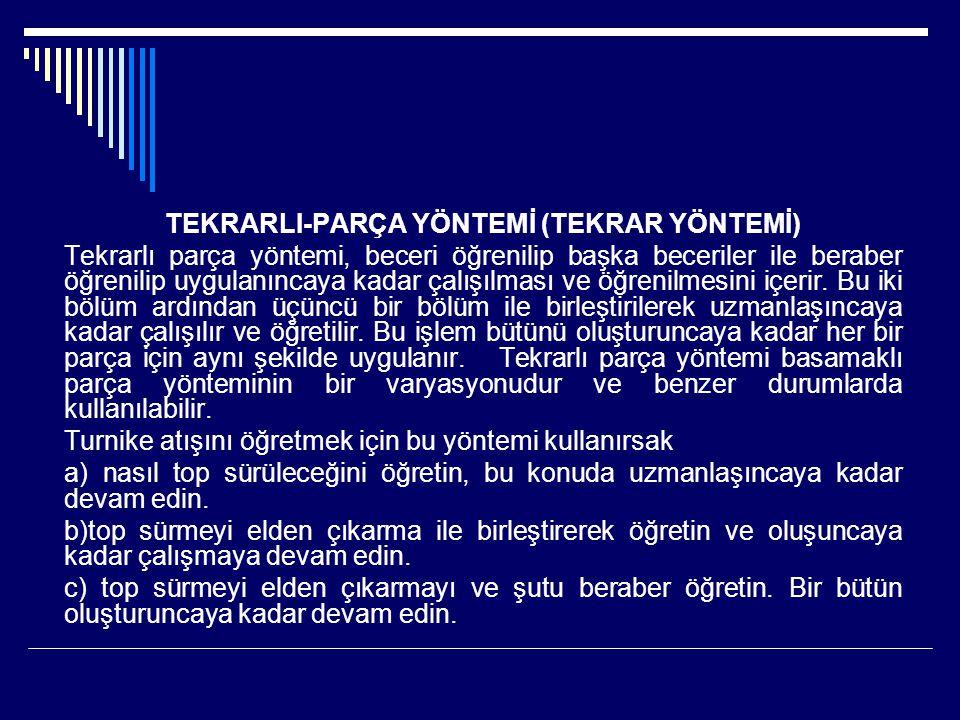 TEKRARLI-PARÇA YÖNTEMİ (TEKRAR YÖNTEMİ)