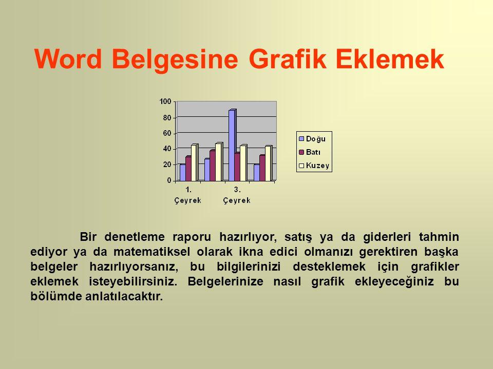 Word Belgesine Grafik Eklemek