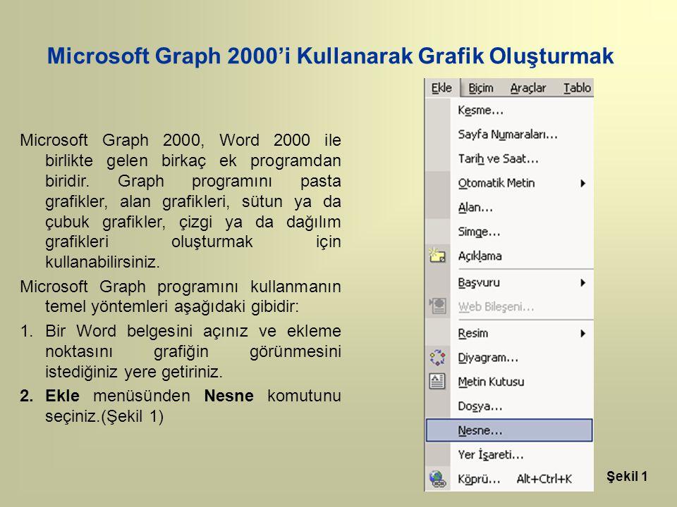 Microsoft Graph 2000'i Kullanarak Grafik Oluşturmak
