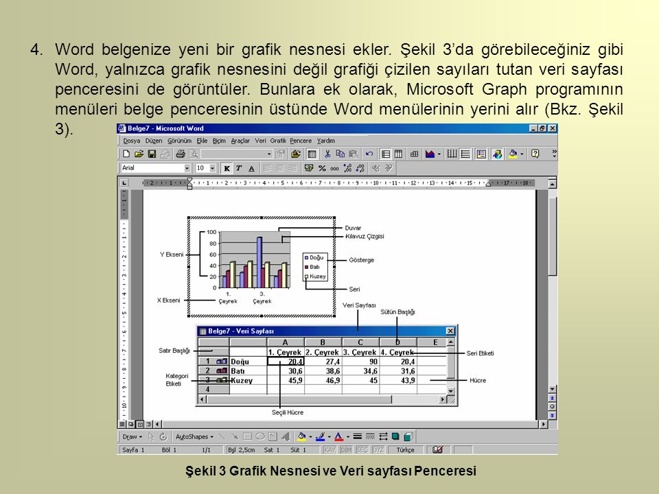 Word belgenize yeni bir grafik nesnesi ekler