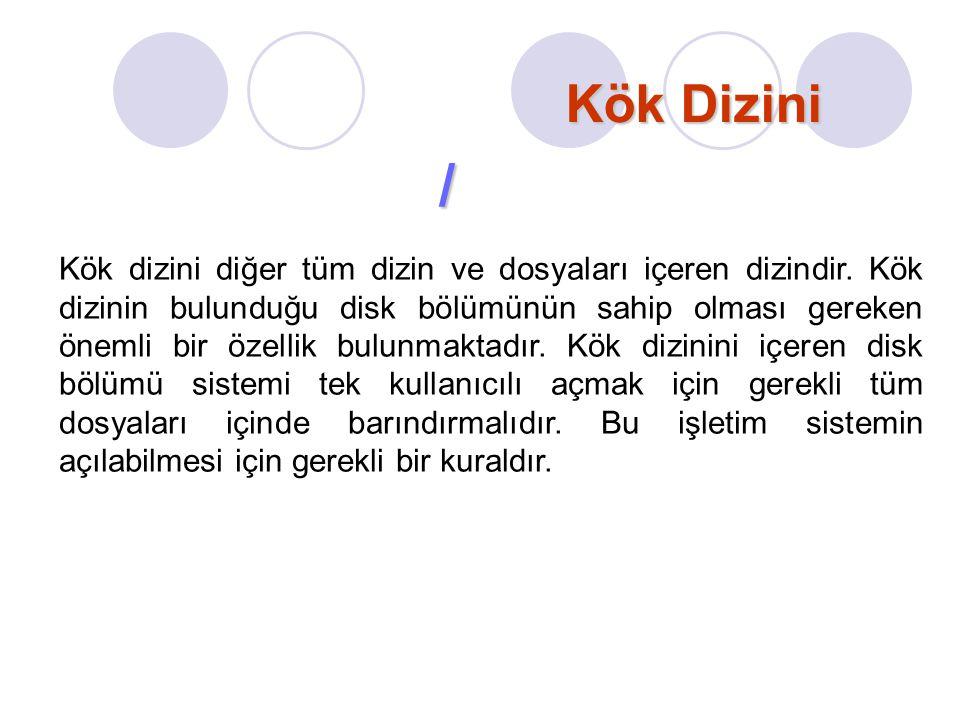 Kök Dizini /