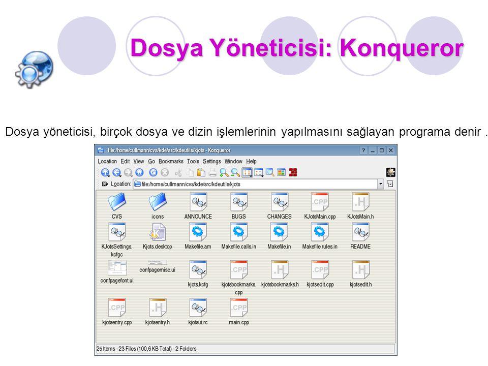 Dosya Yöneticisi: Konqueror