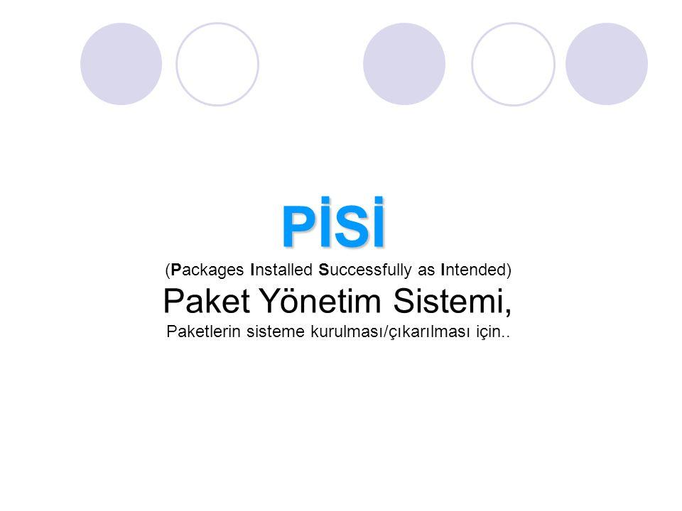 PİSİ Paket Yönetim Sistemi,