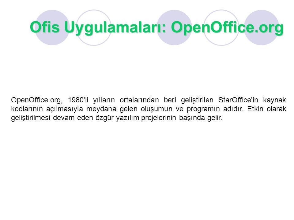 Ofis Uygulamaları: OpenOffice.org