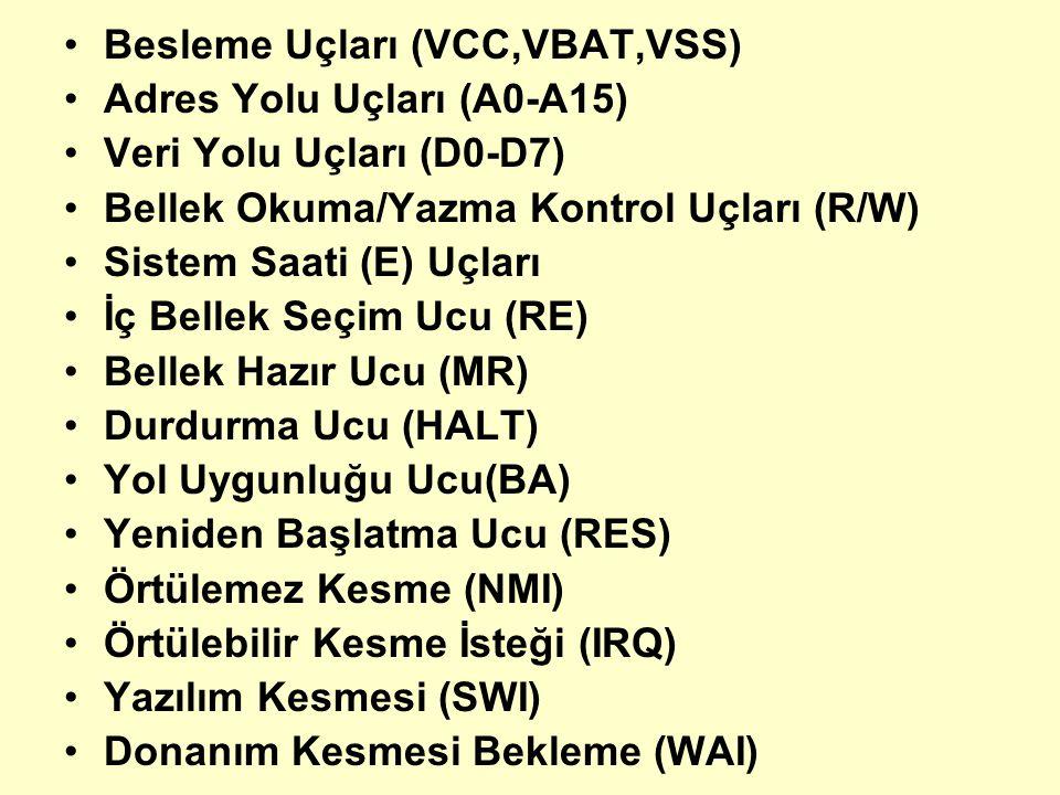 Besleme Uçları (VCC,VBAT,VSS)