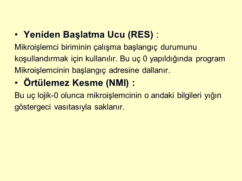 Yeniden Başlatma Ucu (RES) :