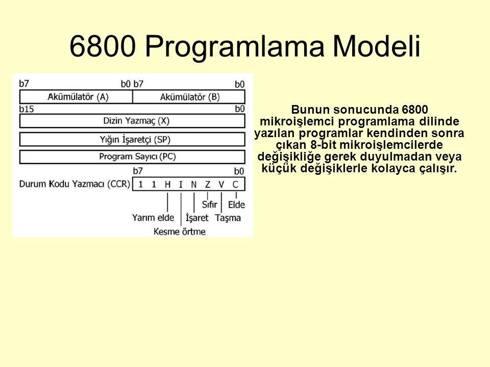 6800 Programlama Modeli