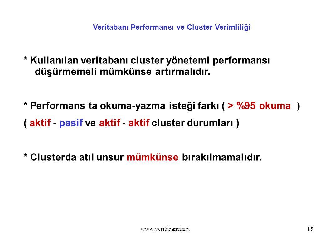 Veritabanı Performansı ve Cluster Verimliliği