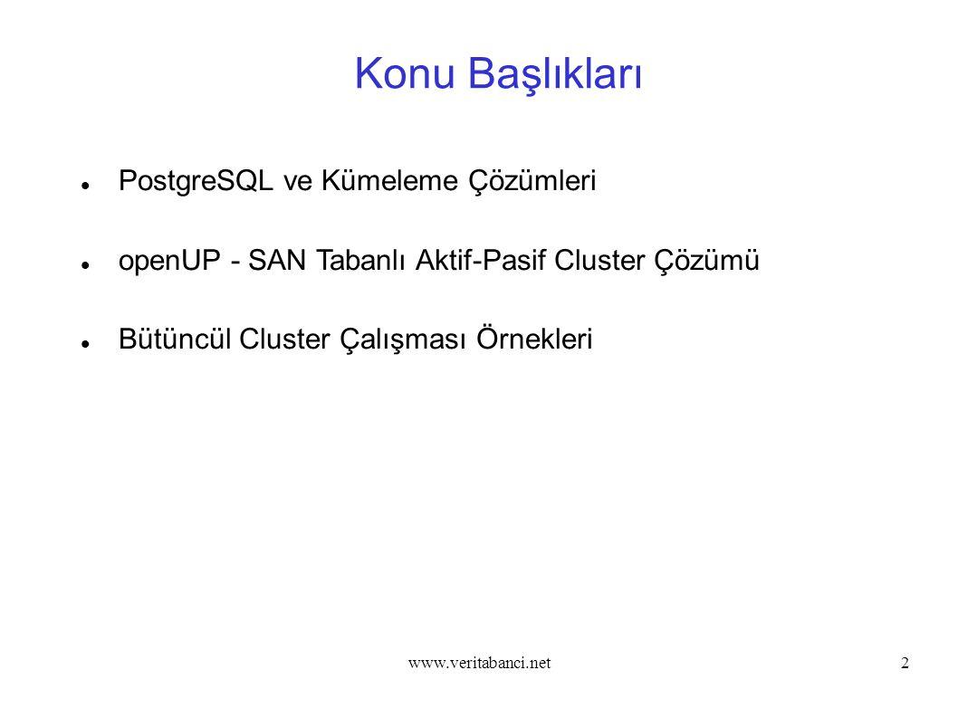 Konu Başlıkları PostgreSQL ve Kümeleme Çözümleri