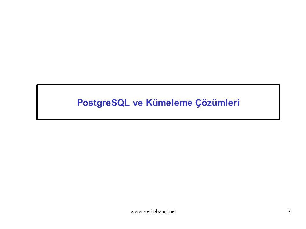 PostgreSQL ve Kümeleme Çözümleri