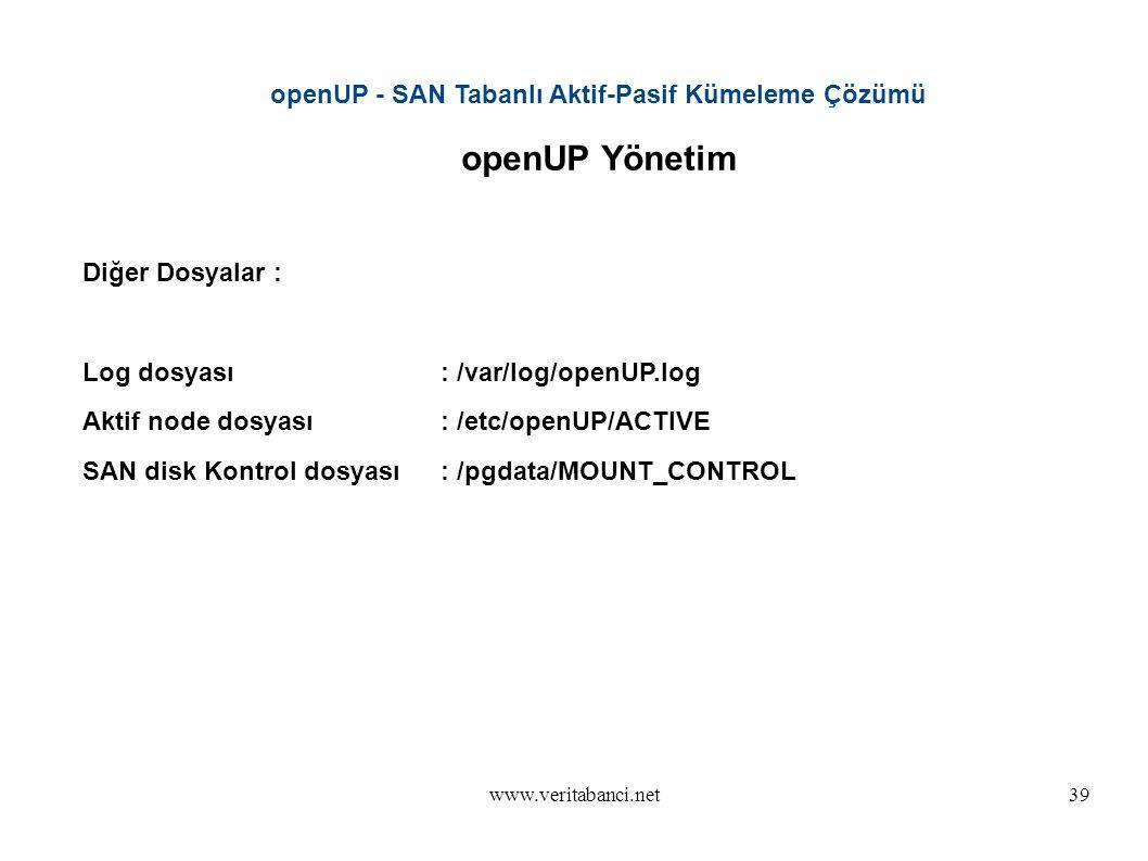 openUP - SAN Tabanlı Aktif-Pasif Kümeleme Çözümü