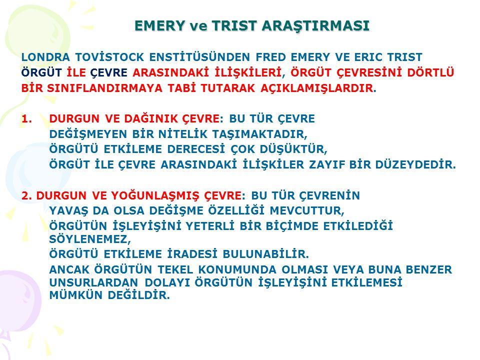 EMERY ve TRIST ARAŞTIRMASI