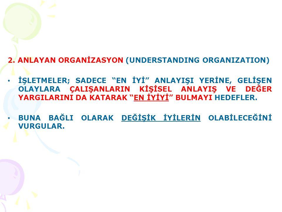 2. ANLAYAN ORGANİZASYON (UNDERSTANDING ORGANIZATION)