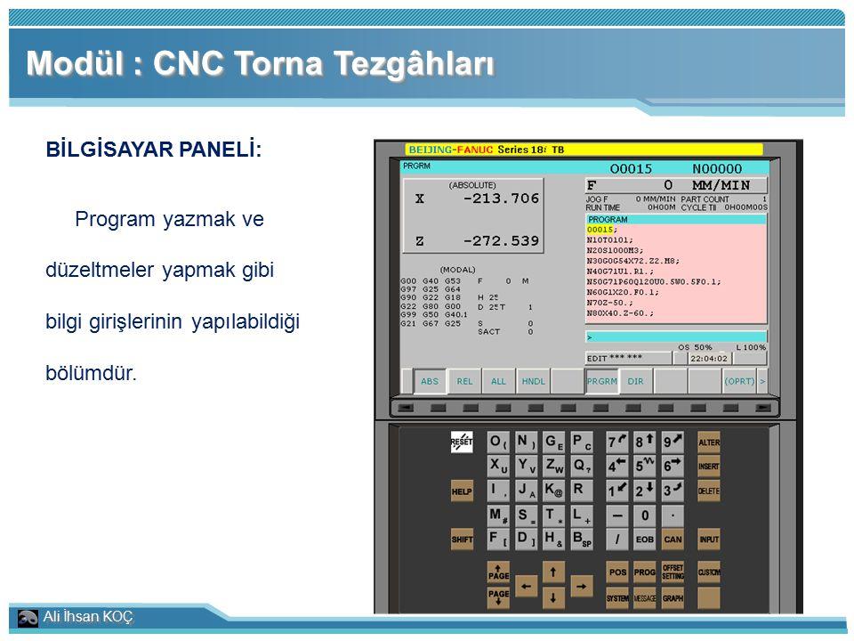 Modül : CNC Torna Tezgâhları