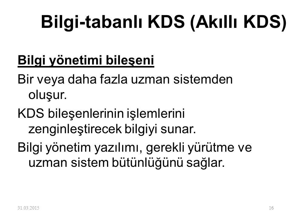 Bilgi-tabanlı KDS (Akıllı KDS)