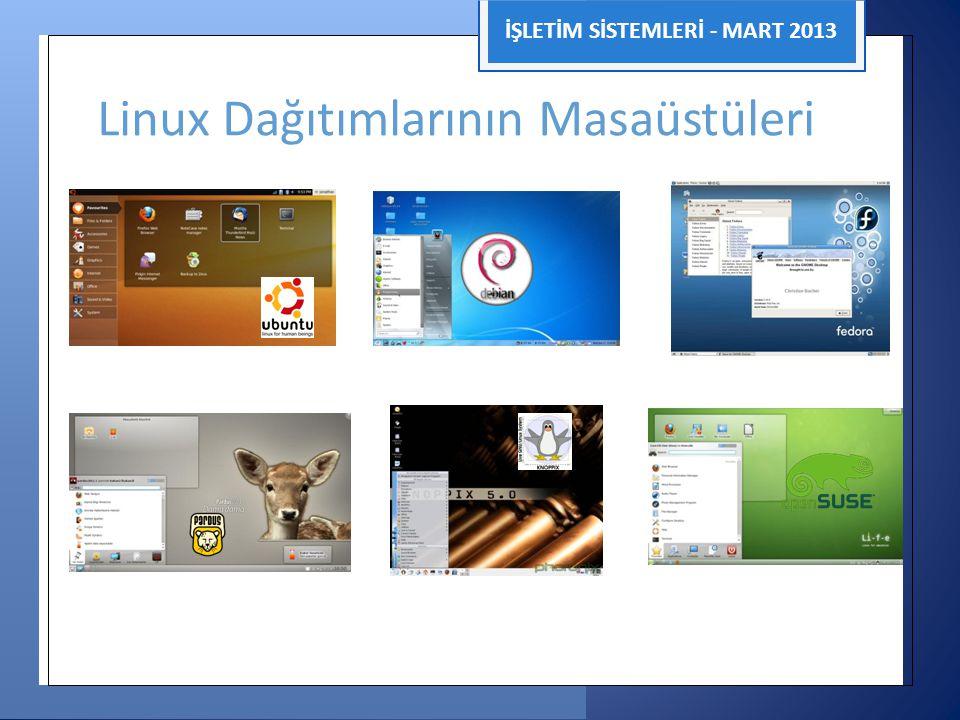 Linux Dağıtımlarının Masaüstüleri