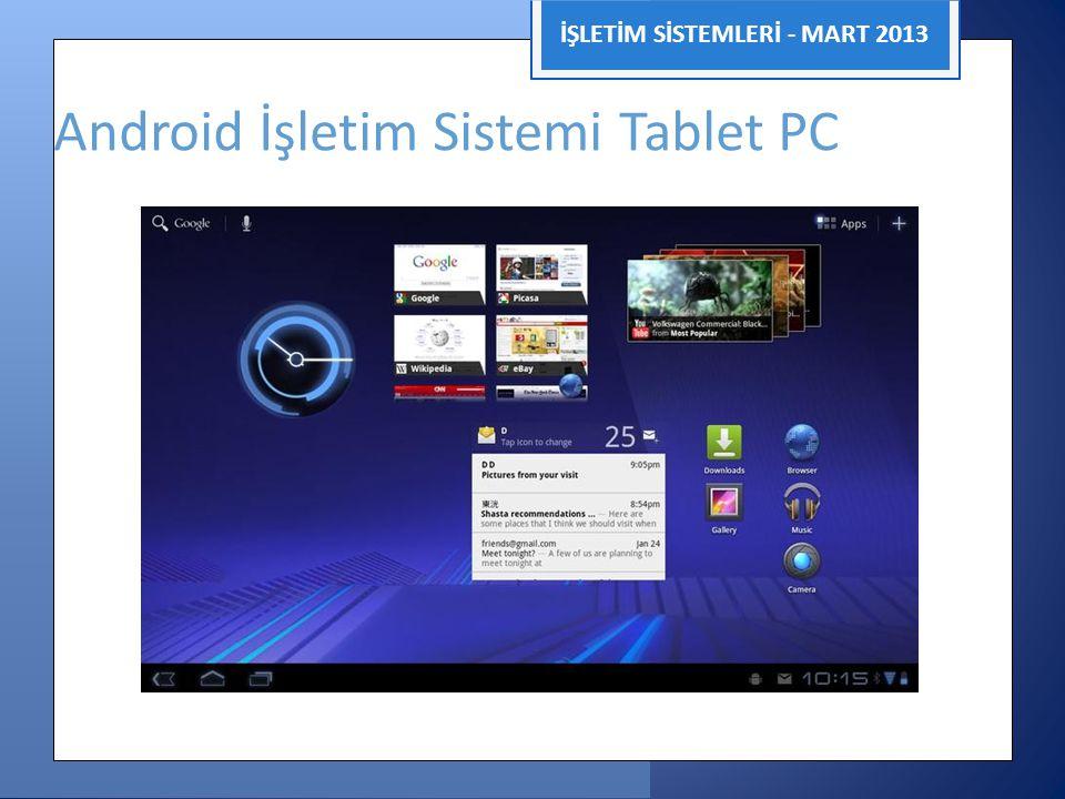 Android İşletim Sistemi Tablet PC