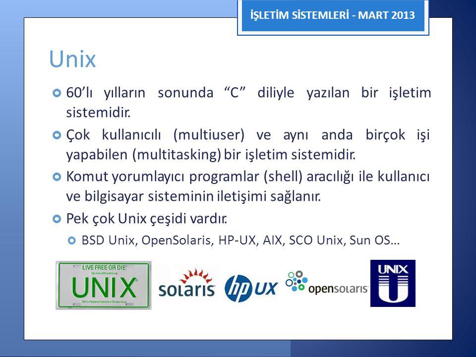 Unix sistemidir. yapabilen (multitasking) bir işletim sistemidir.