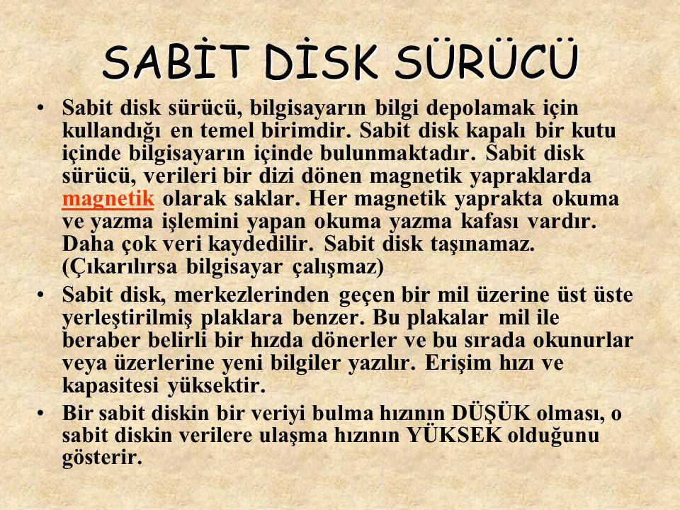 SABİT DİSK SÜRÜCÜ