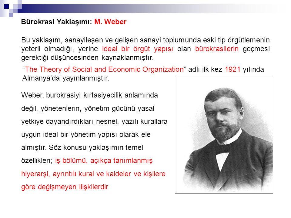 Bürokrasi Yaklaşımı: M. Weber