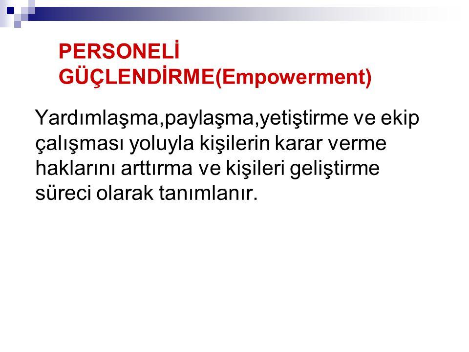 PERSONELİ GÜÇLENDİRME(Empowerment)