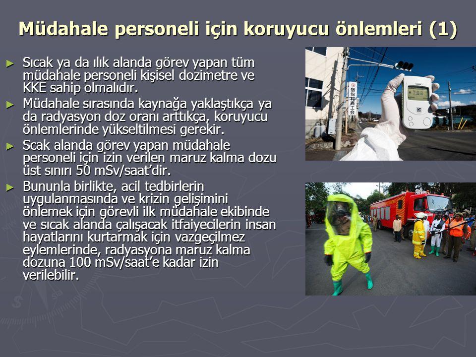 Müdahale personeli için koruyucu önlemleri (1)