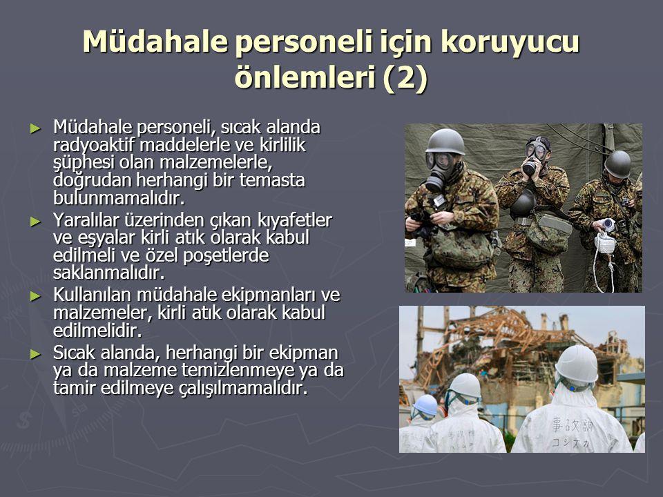 Müdahale personeli için koruyucu önlemleri (2)