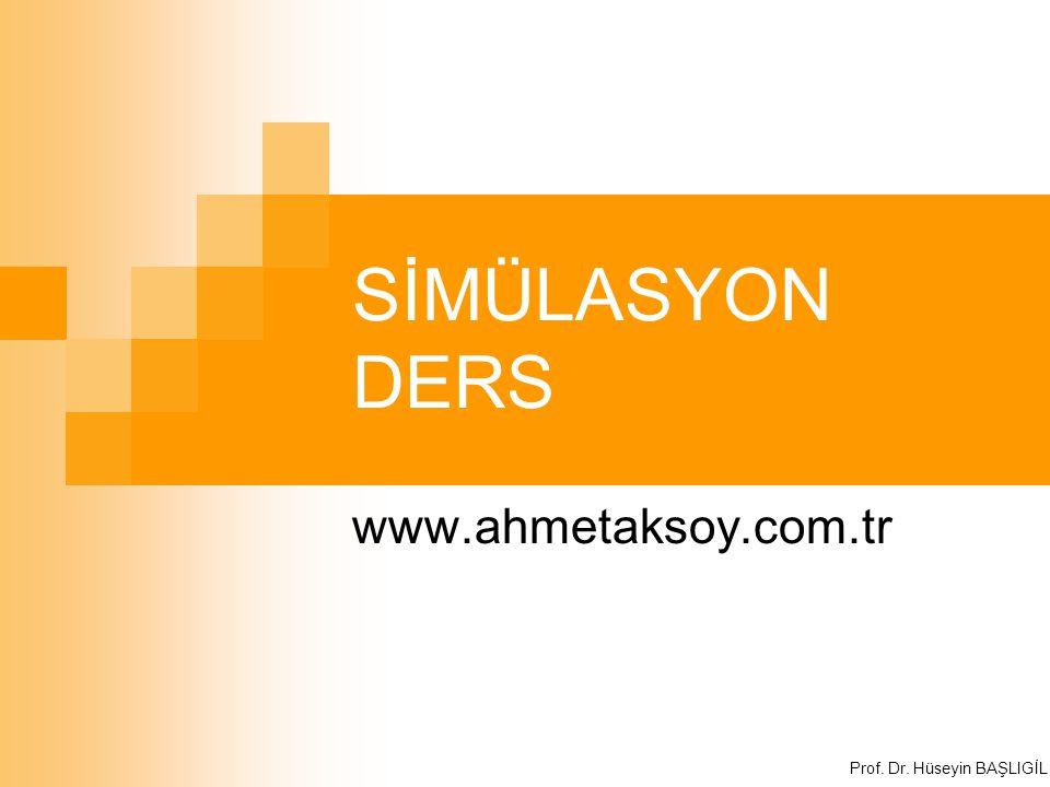 SİMÜLASYON DERS www.ahmetaksoy.com.tr Prof. Dr. Hüseyin BAŞLIGİL