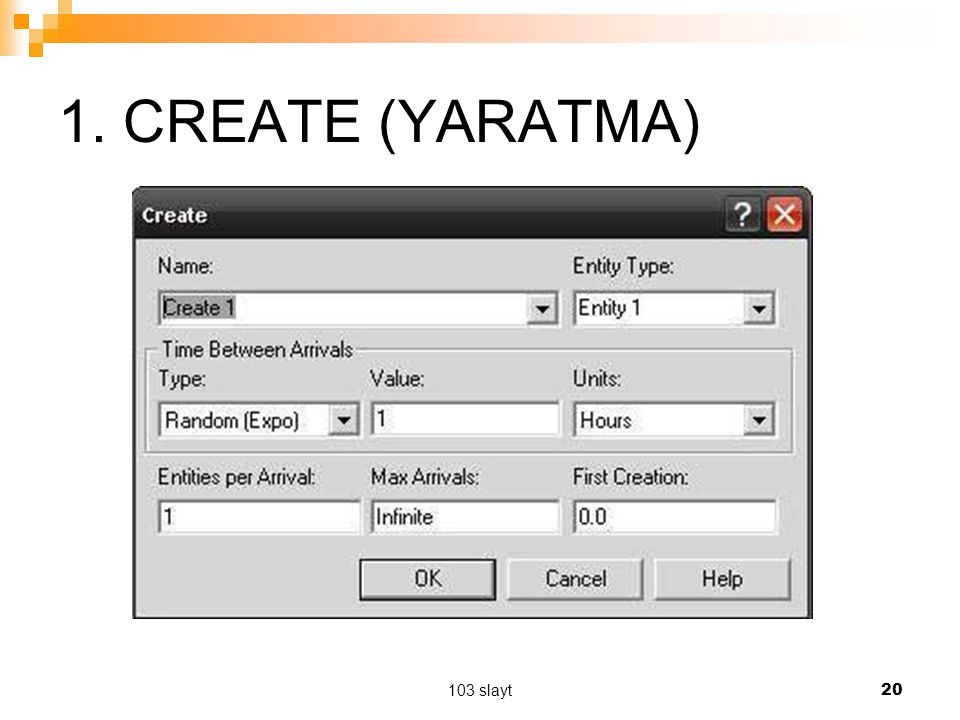 1. CREATE (YARATMA) 103 slayt