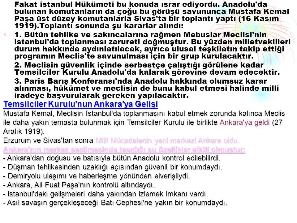 Temsilciler Kurulu nun Ankara ya Gelişi