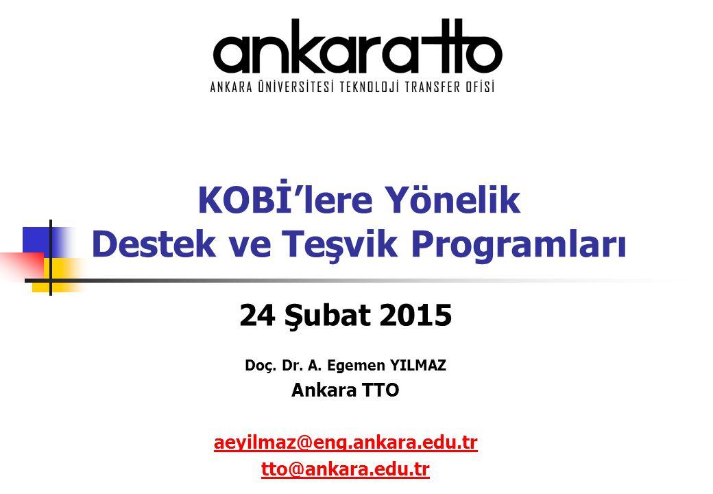 KOBİ'lere Yönelik Destek ve Teşvik Programları