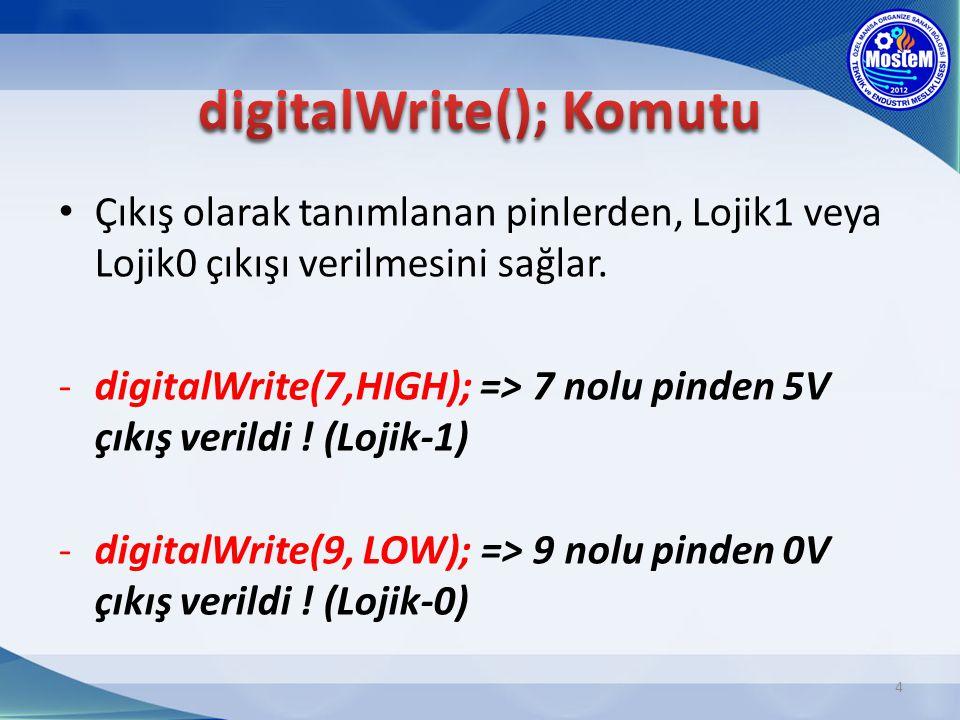 digitalWrite(); Komutu