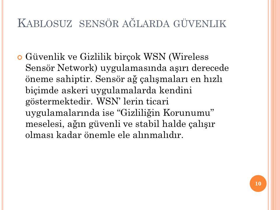 Kablosuz sensör ağlarda güvenlik