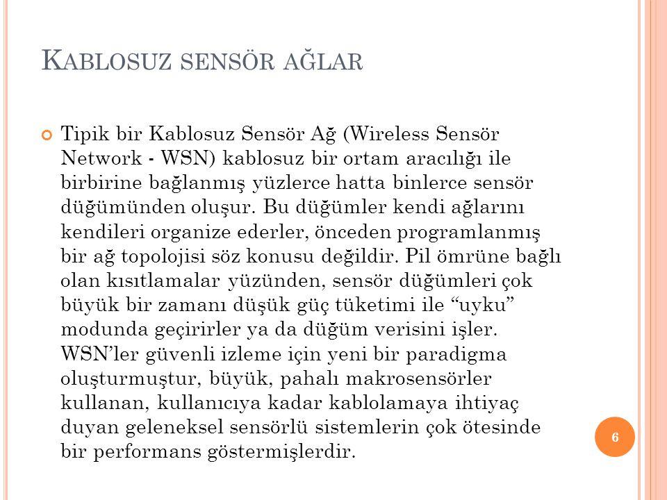 Kablosuz sensör ağlar
