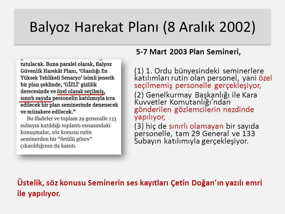 Balyoz Harekat Planı (8 Aralık 2002)