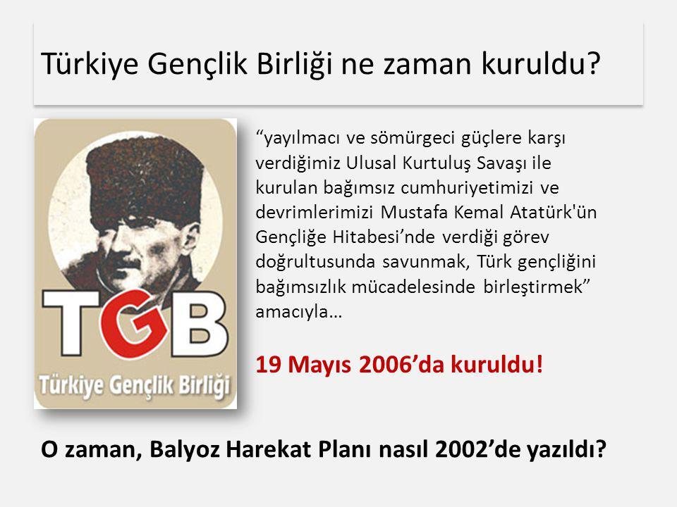 Türkiye Gençlik Birliği ne zaman kuruldu