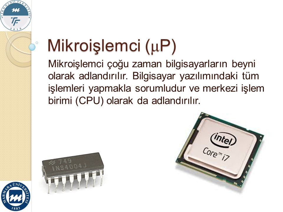 Mikroişlemci (μP)