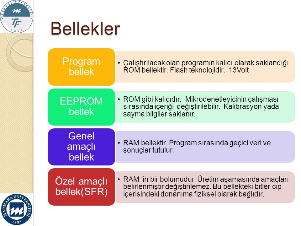 Özel amaçlı bellek(SFR)