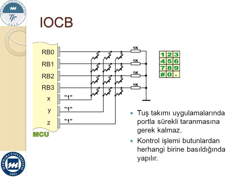 IOCB Tuş takımı uygulamalarında portla sürekli taranmasına gerek kalmaz.