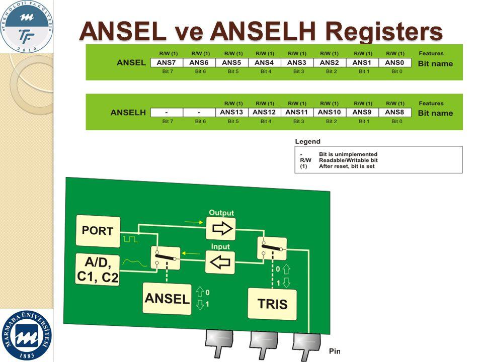 ANSEL ve ANSELH Registers