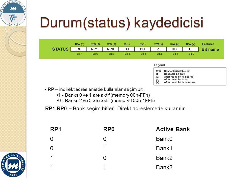 Durum(status) kaydedicisi