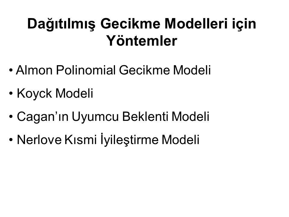 Dağıtılmış Gecikme Modelleri için Yöntemler