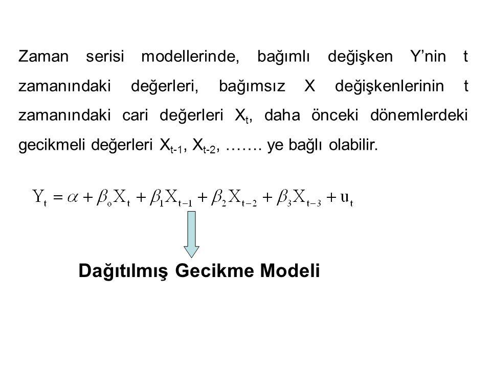 Dağıtılmış Gecikme Modeli