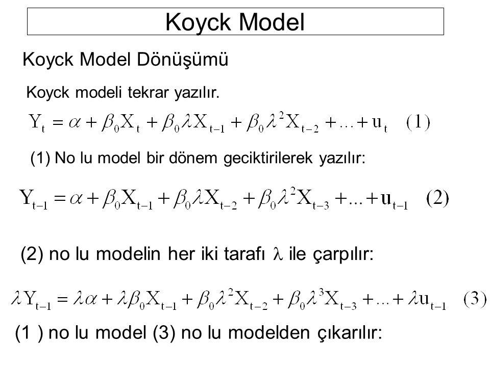 Koyck Model Koyck Model Dönüşümü
