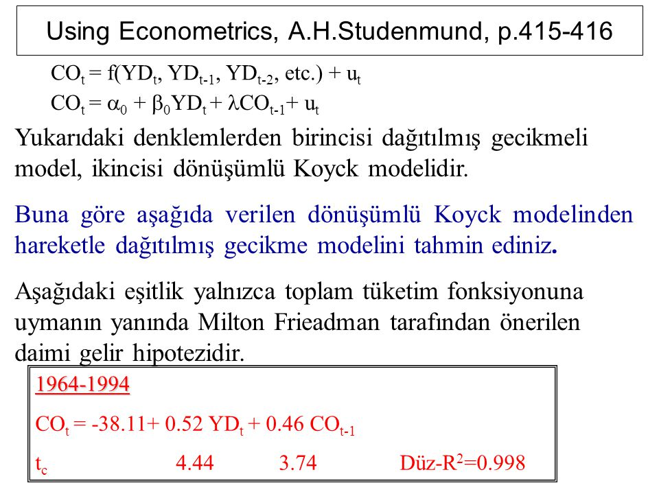 Using Econometrics, A.H.Studenmund, p.415-416