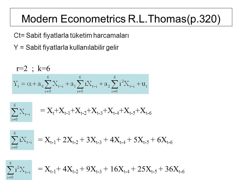 Modern Econometrics R.L.Thomas(p.320)