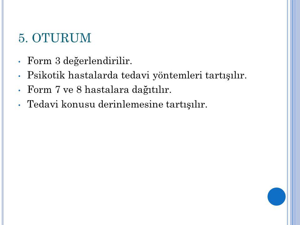 5. OTURUM Form 3 değerlendirilir.